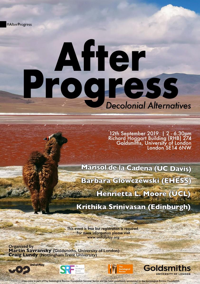 After Progress Decolonial Alternatives