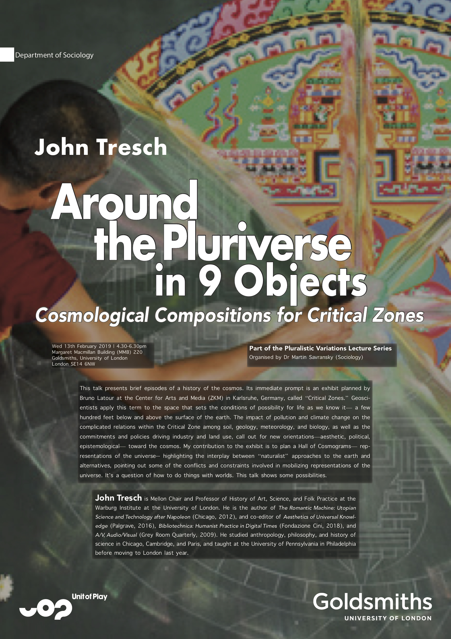John Tresch, Around the Pluriverse in 9 Objects Martin Savransky